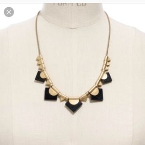 Madewell Black and Gold Geometric Necklace